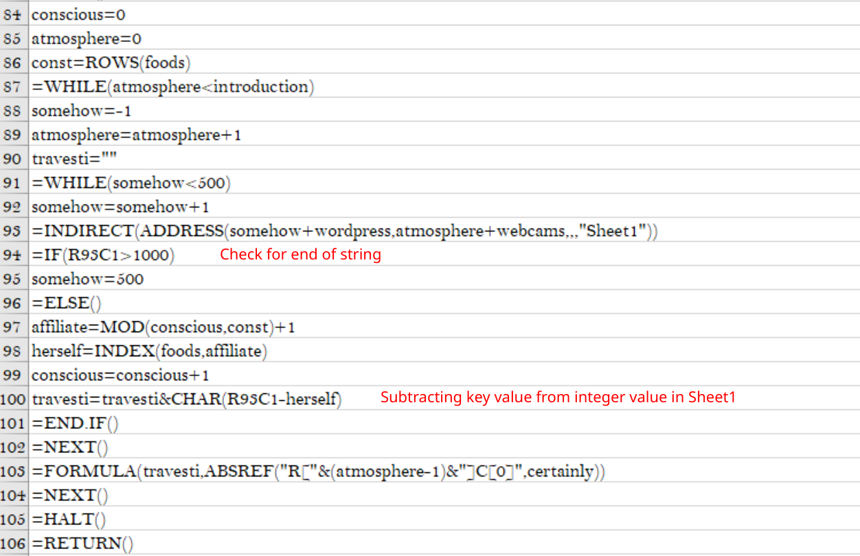 Excel 4.0 Macro Obfuscation